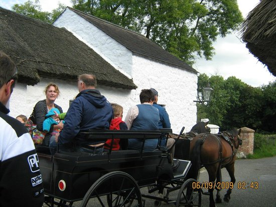 Ulster Folk & Transport Museum: horse & cart available for rides