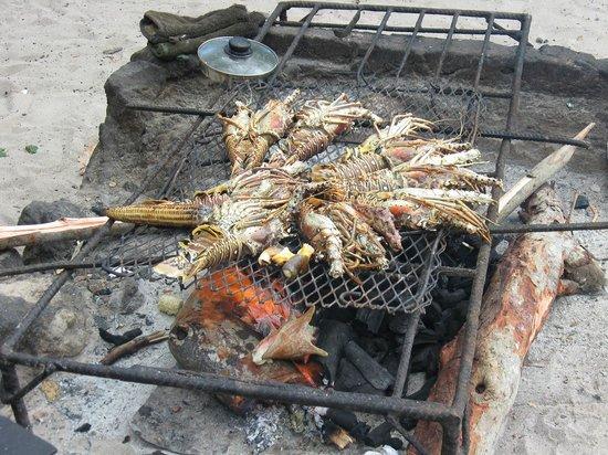 Booby Cay Island: grigliata di aragosta