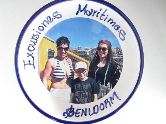 Isla de Benidorm (L'illa de Benidorm): momento wall dish 10euro each