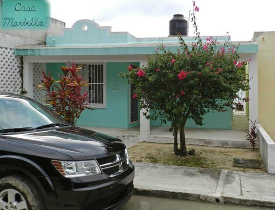 Chan Chemuyil Vacation Rental : Casa Marbella from the street - Calle Belice.