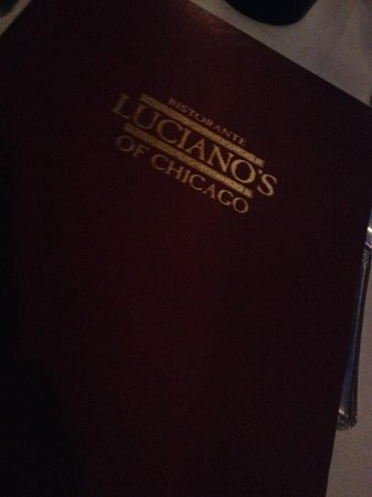 Luciano's of Chicago: Luciano's Menu