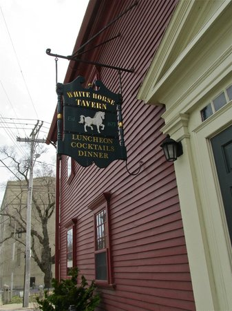 The White Horse Tavern: Tavern sign