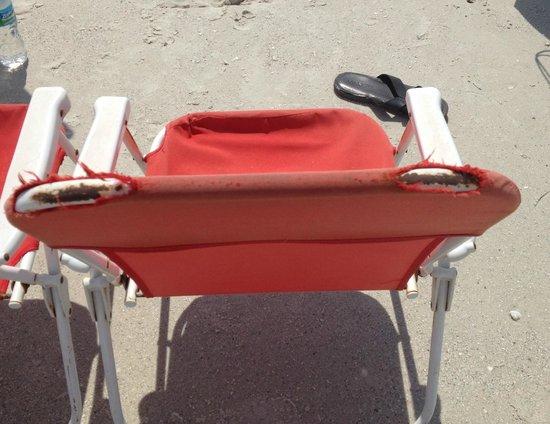 Flamingo Inn: Beach chair