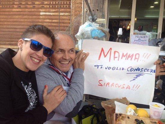 Caseificio Borderi: I even offered Andreas my mom!!!!