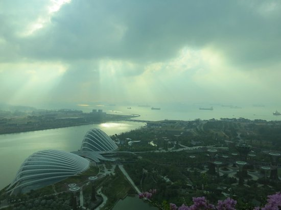 Marina Bay Sands: The view from the 43rd floor, looking out to the ocean