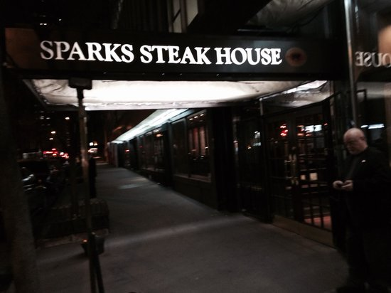 Sparks Steak House: Outside. Castellano was gunned down to the left on the curb