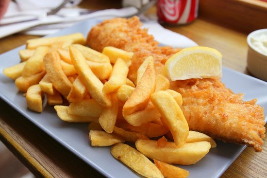 Baileys Fish and Chips: cod and chips