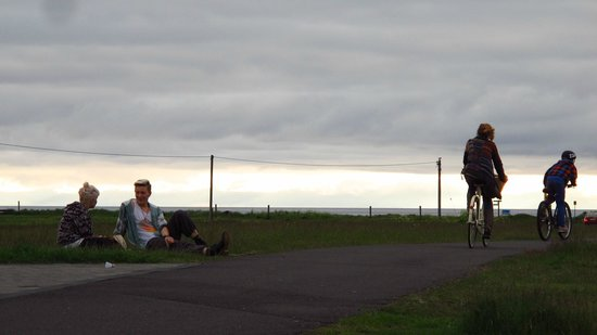 Reykjavik Bike Tours : Where the locals hang out on cloudy summer evenings