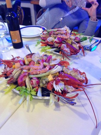 Speciality: lobster with vegetables and fruits. - Picture of ...