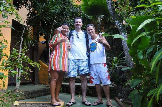 Pousada Aquarela: Minha esposa, eu e Jose, grande figura!