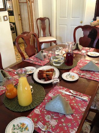 The Oval Door Bed and Breakfast Inn: Set up to serve Breakfast