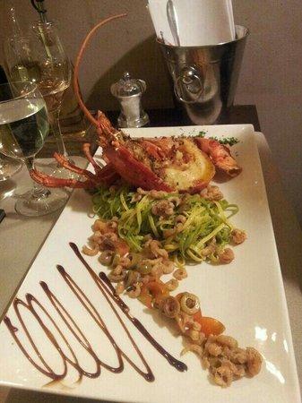 Restaurant De Graslei: Halve kreeft, erg lekker en bijzondere ervaring.