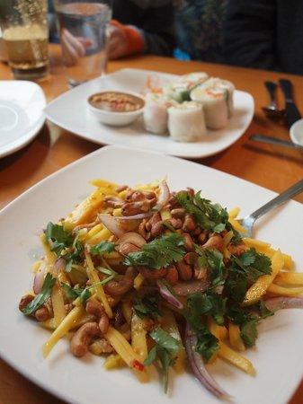 Thai Orchid: Mango salad