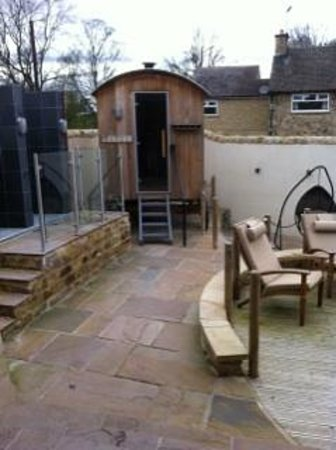 The Garage Spa: wooden sauna - only one in UK