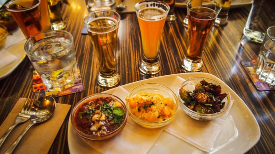 Vancouver Food Tour: Tri of food to pair with beer at Rouge