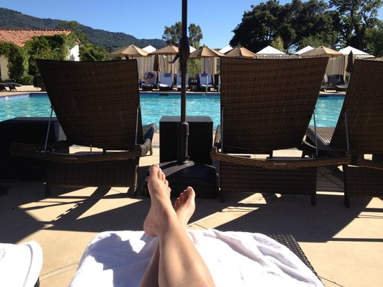 Ojai Valley Inn: pool time!