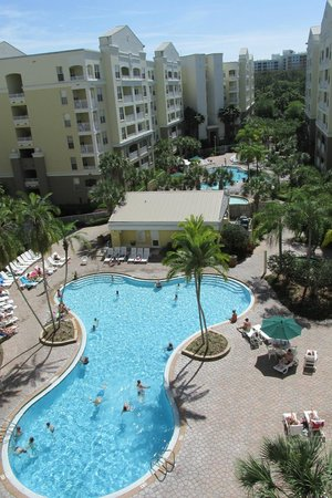 Vacation Village at Parkway : view of pool from balcony