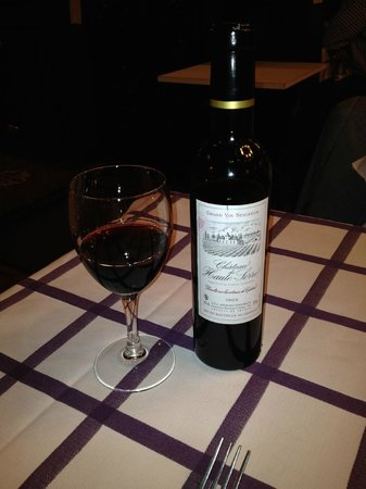Auberge des Pyrenees Cevennes: A great half bottle of Cahors!