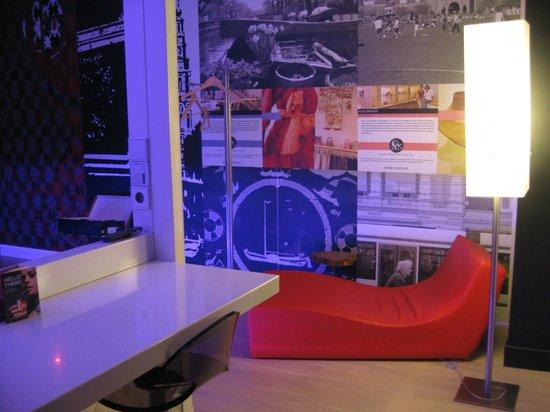 Qbic Hotel Amsterdam WTC : Trendy interior