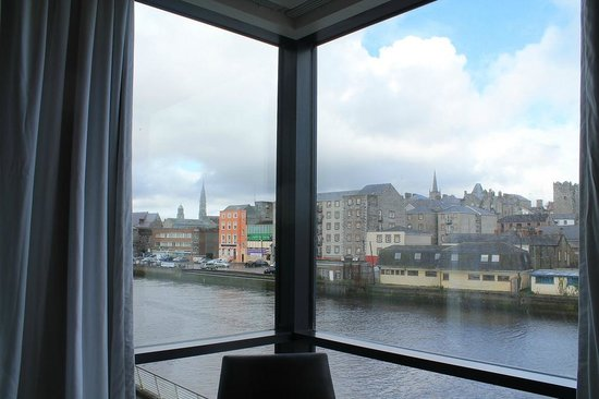 The d Hotel Drogheda: River view from room.