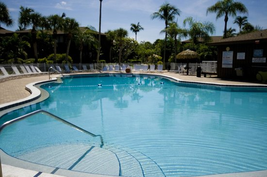 Blind Pass Condominiums : The heated pool is so relaxing any time of the day!