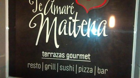Te Amare Maitena: Cartaz do retaurante