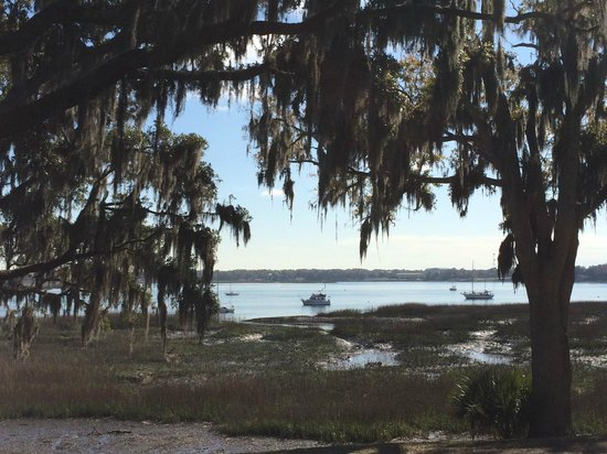 View of the Intracoastal Waterway from the Cuthbert House Inn