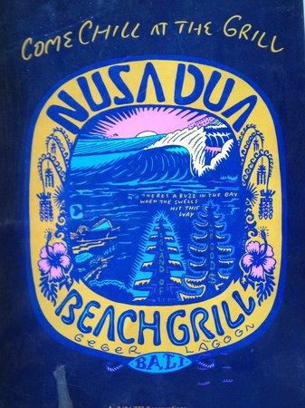 Nusa Dua Beach Grill : Menu