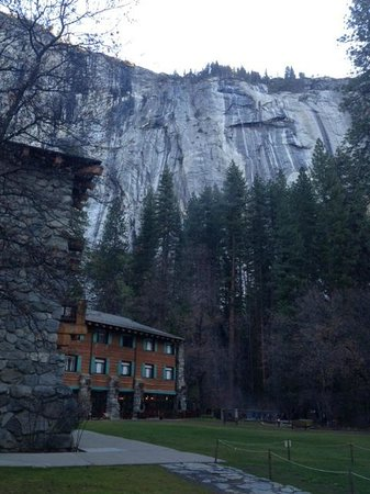 The Majestic Yosemite Hotel: outside the ahwahnee
