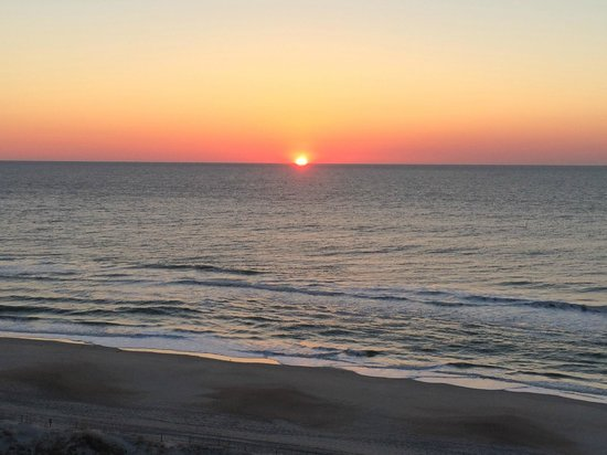 Sunrise from our Room at the Courtyard by Marriott Carolina Beach