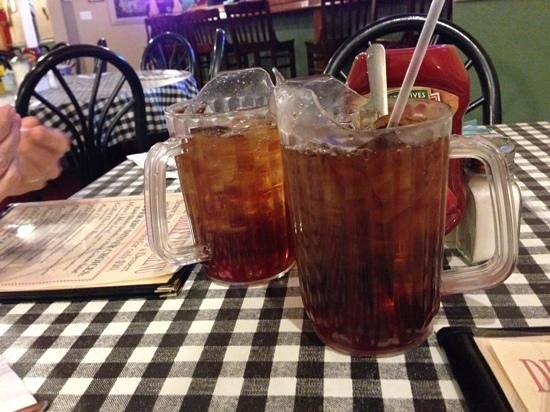 Texas size tea glass aka individual pitcher - Picture of Dixie Grille ...