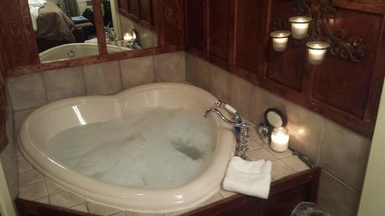 Gables: In room heart shaped whirlpool tub