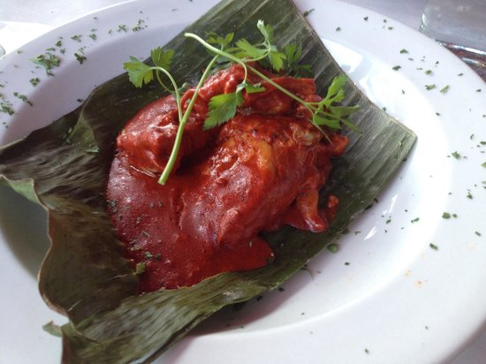 Frida's : Pork in banana leaves with habanero.