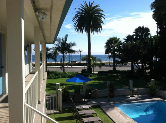 Cabrillo Inn at the Beach: view from the door to our room
