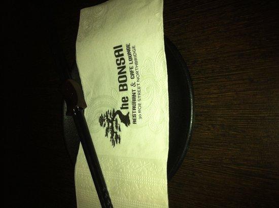 The Bonsai Retaurant & Cafe: Serviette