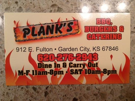 Come on in picture of plank 39 s barbeque garden city Places to eat in garden city ks