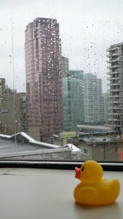 The Listel Hotel Vancouver: a wet day, glad to be inside
