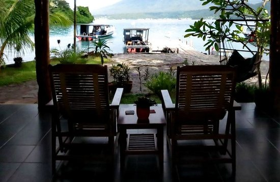 NAD-Lembeh Resort: Looking out from dining area