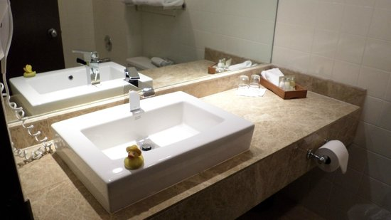 Lonsdale Quay Hotel: rubber ducky likes this sink