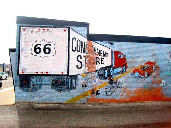 Route 66 Historic District: Mural
