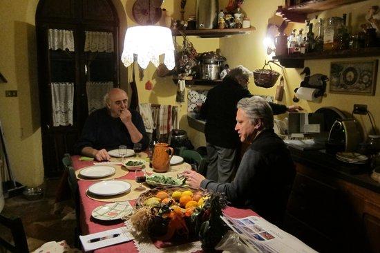 Villa Vallerosa: Sitting with Luciana and Luigi