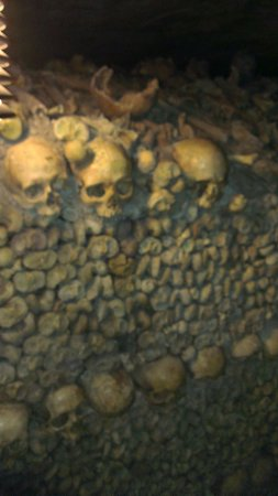 Les Catacombes : Endless rows of remains
