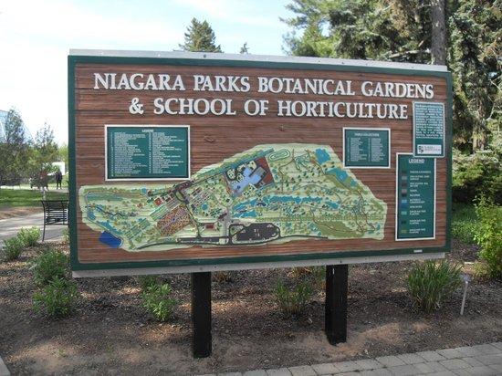 Niagara Parks Botanical Gardens : Map of park property