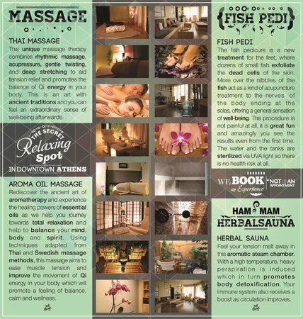Athens Fish Spa Massage & Hammam: Athens fish spa brochure