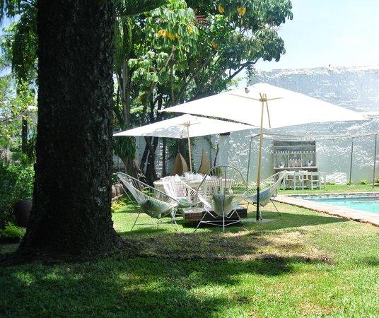 Las Casas B+B Hotel: Un jardín que te invita a disfrutarlo desde todos los ángulos.