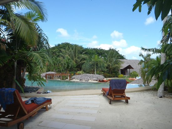 The Havannah, Vanuatu: Photo taken standing at the front door of Lagoon Pool Villa #6