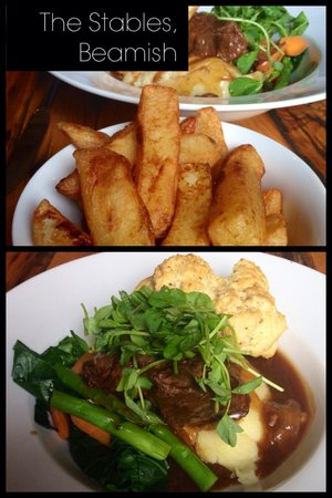 The stables beamish: Northumberland braised beef and spring vegetables