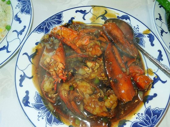 Fook Yuen Seafood Restaurant: 活ロブスターのブラックビーンズ焼き