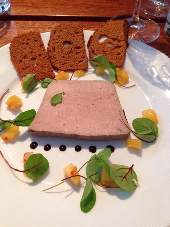 Field : Pate with pineapple relish and gingerbread.