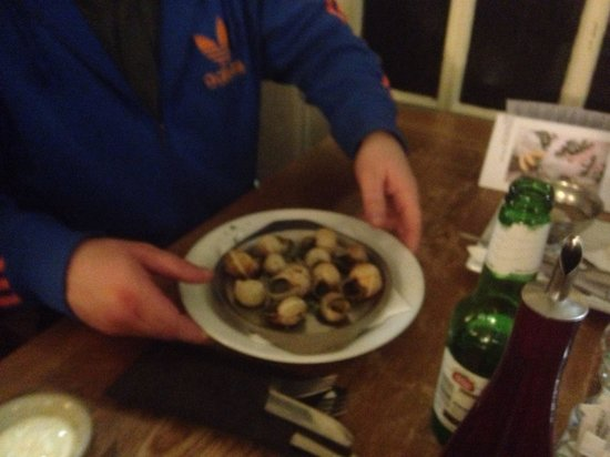 White's Seafood & Steak Bar: Snails lol